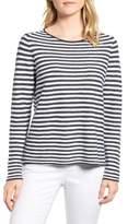 Eileen Fisher Stripe Organic Linen & Cotton Sweater