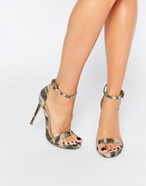 Missguided Camo Heeled Sandal