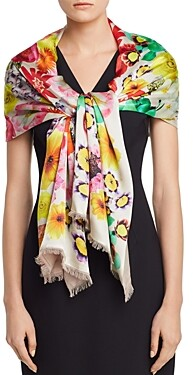 Echo Summer Floral Oblong Scarf
