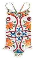 Dolce & Gabbana Toddler's, Little Girl's & Girl's Ruffled One-Piece Swimsuit