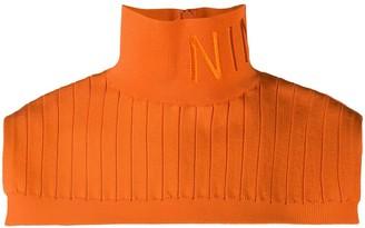 Nina Ricci Logo Embroidered Ribbed Neckband