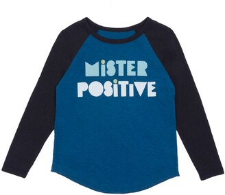Peek Aren't You Curious Joshua Mister Positive Raglan Sleeve Shirt