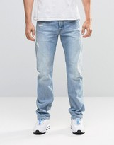 G-star Attack Straight Jeans Light Aged Restored Distressed 90