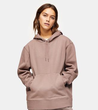 Topshop Petite hoodie in beige