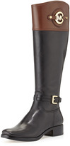 Michael Kors Stockard Two-Tone Leather Riding Boot