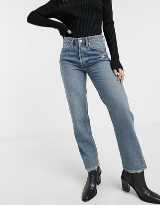 Free People Fast Times classic mom jeans