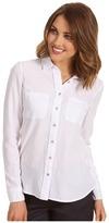 Calvin Klein Jeans Petite - Petite Fitted Chambray Shirt Shrunken Oxford (White) - Apparel
