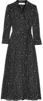 Diane von Furstenberg Printed Cotton And Silk-blend Gauze Wrap Dress - Black