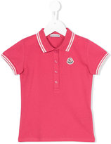 Moncler striped collar polo shirt - kids - Cotton/Spandex/Elastane - 8 yrs