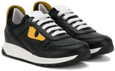 Fendi lace-up sneakers - kids - Calf Leather/Leather/rubber - 30