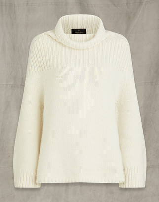 Belstaff CALDEN WOOL ROLL NECK White