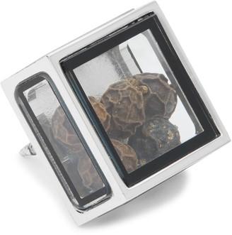 Tateossian Rhodium-Plated Box Pin