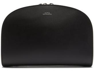 A.P.C. Half-moon Smooth-leather Belt Bag - Womens - Black