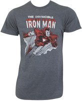 Iron Man Mens Flying Fitted T-Shirt