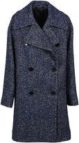 Tagliatore Melange Blue Wilma Coat