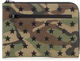 Saint Laurent Camouflage-print leather document holder