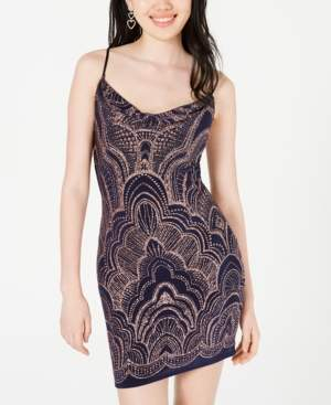 Jump Juniors' Glitter-Print Bodycon Dress