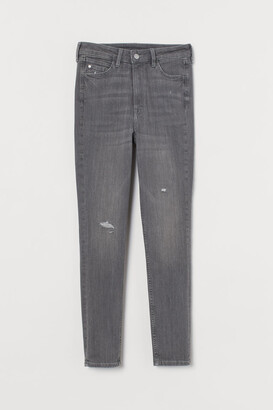 H&M Super Skinny High Ankle Jeans - Gray
