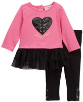 Juicy Couture Heart Tunic & Legging Set (Baby Girls 3-9M)
