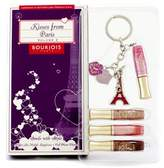 Bourjois Kisses From Paris Volume 2 Lipgloss Set: 4x Effect 3D Mobile Lipgloss + Cell Phone Charm - 5pcs
