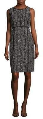Lafayette 148 New York Vienna Patterned Sheath Dress