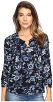 Lucky Brand Floral Vines Top Women's Clothing