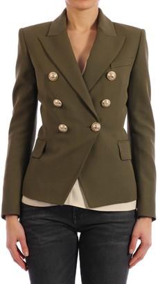 Balmain Buttons Blazer Khaki