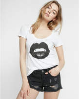 Express Low Rise Black Distressed Denim Shorts