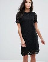 Vila Short Sleeve Lace Shift Dress