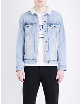 Levi's Faux-sherpa trucker denim jacket