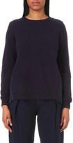 Clu Pleated-panel cotton-jersey sweatshirt