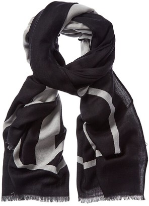 Valentino V Logo Wool, Cashmere, & Silk-Blend Scarf