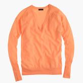 J.Crew Italian featherweight cashmere V-neck boyfriend sweater