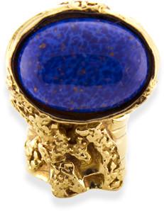 Saint Laurent Arty Oval Ring (Lapis Lazuli) - Size 4