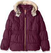 Pink Platinum Little Girls' Cool Quilted Puffer