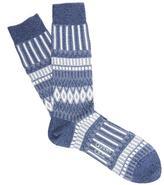 Ayame Triangle Square Pattern Socks
