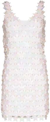 Paco Rabanne Star Embellished Mini Shift Dress