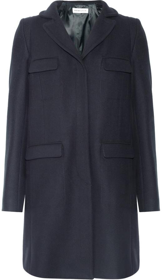 See by Chloe Wool-blend coat
