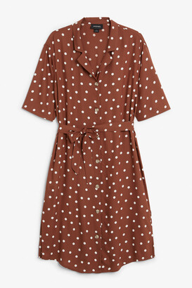 Monki Tie-waist shirt dress
