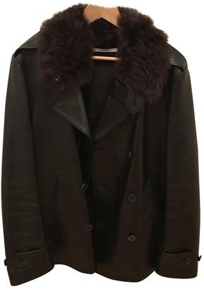 Saint Laurent Black Fur Coats