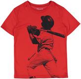 Champion Crimson Baseball Player Graphic Tee - Boys