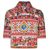 Dolce & Gabbana Maiolica Cropped Jacket
