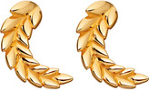 Astley Clarke Mini Olive Crown biography 18ct yellow gold-plated stud earrings