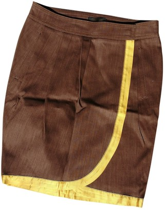 Roberto Cavalli Brown Cotton Skirt for Women