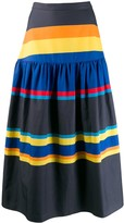 Chinti and Parker striped skirt