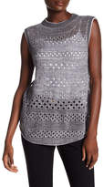 Inhabit Perforated Cashmere Blend Sweater Tank