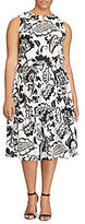 Lauren Ralph Lauren Plus Floral-Print Keyhole Dress