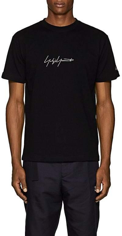 Yohji Yamamoto Men's Logo-Embroidered Cotton T-Shirt