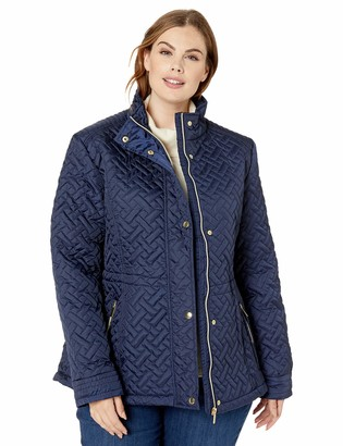 Big Chill Women's Basket Weave Quilted Anorak Jacket