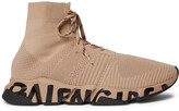 Thumbnail for your product : Balenciaga Speed Logo-Print Stretch-Knit Sneakers